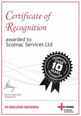 NICEIC Certificate of Recognition